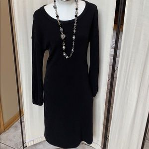 Black Sweater Dress by Worth
